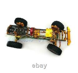 New 455MM 1/10 RC Cars AXIAL D90 CNC Rock Crawler Chassis Full Metal Model