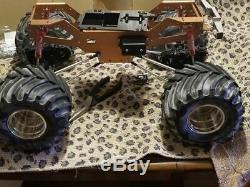 New Aluminum Chassis kit for TAMIYA 4X4x4 Clod buster/bull head