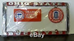 Ohio State Buckeyes Metal License Plate Frame OSU Officially Licensed Car Truck