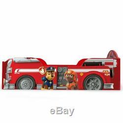 PAW Patrol Toddler Car Bed Kids Bedroom Furniture Boys Frame Vehicle Children