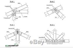 Prefab Heavy Timber Frame Carport For 2 Two Vehicles Cars Engineered Wood Canopy