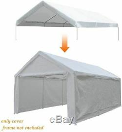 Quictent Car Tent Carport White Heavy Duty Garage Awnings Steel Frame Canopy US