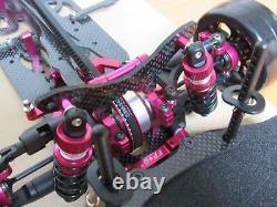 RC 110 Alloy & Carbon SAKURA D4 AWD Drift Car Frame Body Chassis #KIT-D4AWD