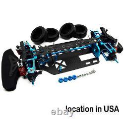 RC 1/10 4WD Alloy Metal & Carbon Touring Car Frame Kit For TAMIYA TT01 TT01E US