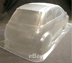 RC 1 10 Car Clear Fiat 500 Body Shell fits Tamiya M Chassis 225mm Wheelbase
