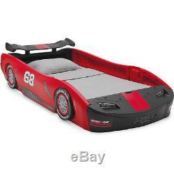 Race Car Twin Bed Frame Toddler Kids Bedroom Furniture Boys Children Delta New