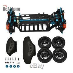 Rc 110 4WD Aluminium Alloy&Carbon Race Car Frame Kit For TAMIYA TT01/TT01E Toy