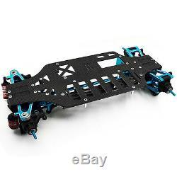 Rc 1/10 4WD Alloy Carbon Touring Car Frame Kit For TAMIYA TT01 TT01E Shaft Drive