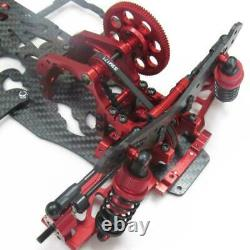 Red 1/10 Alloy Carbon SAKURA D4 RWD Drift Car Chassis Frame Body Kit #KIT-D4RWD