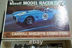 Revell 1/32 New Shelby Ford Cobra Yellow Slot Car Kit Chassis Box Ins Decals Cox