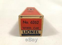 SCARCE Postwar Lionel 6262 RED FRAME Wheel Car / MINT C10 UNRUN OB