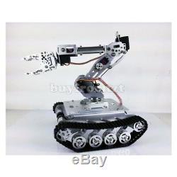 Shock Absorber RC Tank Car WiFi + 7-DOF Robot Arm Gripper + 7pcs MG996R Servos