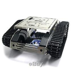 Smart Car Tank Chassis Wifi Robot Kit withGimbal Camera for iOS Arduino Android