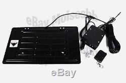 Stealth Remote Control Retractable License Plate Flipper Car Show Bracket Frame