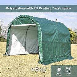 Steel Frame Storage Shed Tent Shelter Car Garage Carport 10'x10'x8' Outdoor