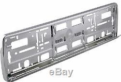 Sumex Car Front / Rear Chrome Plastic License Number Plate Holder Frame Surround