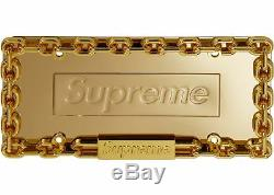 Supreme Chain License Plate Frame Gold Car Accessories