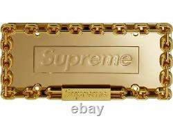 Supreme Chain License Plate Frame Gold Car Accessories 100% Legit