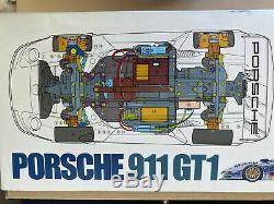 Tamiya 1/10 Electric RC Car Porsche 911 GT1 TA03R-S Chassis 58193 Rare Belt 4WD