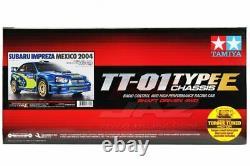 Tamiya 47372 1/10 EP RC Car TT01E Chassis Subaru Impreza STi WRC 2004 GDB withESC