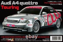 Tamiya 47414 1/10 EP RC Touring Car TT01E Chassis Audi A4 Quattro Kit withESC