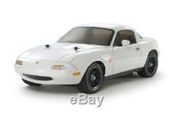 Tamiya 47431 1/10 RC Car Kit M-06 Chassis Mazda Miata MX-5 Eunos Roadster withESC