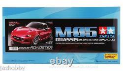 Tamiya 58624 1/10 RC Car M-05 Chassis Mazda MX-5 Miata Roadster ND Kit withESC