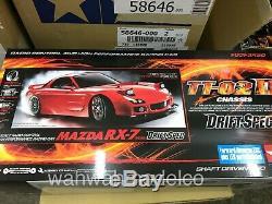 Tamiya 58648 1/10 RC TT02-D Chassis Drift Spec Car Kit Mazda RX-7 FD3S withESC+LED