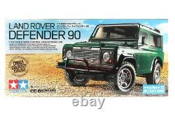Tamiya 58657 1/10 RC 4WD Car CC01 Chassis Land Rover Defender 90 Kit withESC+LEDs
