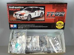 Tamiya # 58667 1/10 R/C Car TT02 Chassis Audi Quattro 4WD Rallye A2 Kit withESC