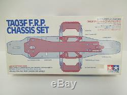 Tamiya Vintage Hop-Up Options TA03F F. R. P. Chassis Set OP. 306 Brand New 100%