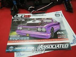 Team Associated Dr10 Reakt Drag Race Car Pre Roller Rolling Chassis Lot Slider