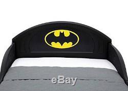 Toddler Bed Frame Kids Boys Childs Childrens Race Car Batmobile Black Single