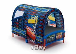 Toddler Bed with Tent Set Disney/Pixar Cars Kid Frame Child Bedroom Furniture