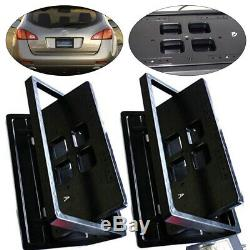 USA License Plate Flipper Car Bracket Frame Flipper+Retractable withRemote Control