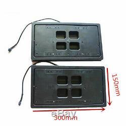 US License Plate Flipper Car Bracket Frame Flipper Retractable + Remote Control