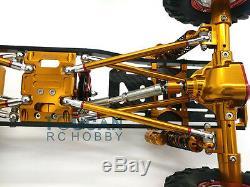 US Stock 1/10 AXIAL SCX10 CNC Aluminium Alloy Chassis D90 RC Rock Crawler Car