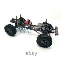 US Stock 1/10 AXIAL SCX10 CNC Rock Crawler RC Car Gray Aluminium Alloy Frame