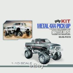 US Stock 1/10 RC Pickup 44 Rally Car Series Racing Crawler KIT Chassis Axles BK