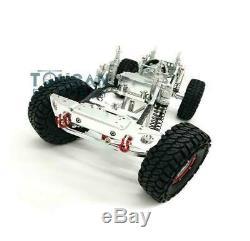 US Stock Silver SCX10 RC Rock Crawler Car CNC Aluminium Alloy Frame Chassis 1/10
