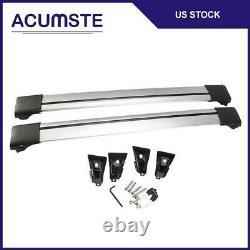 Universal Adjust Car Top Rack Aluminum Cross Bar Roof Cargo Luggage Rack Frame