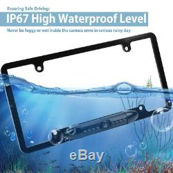 Wireless Digital Car Rear View Camera Backup License Plate Frame Fit IOS Android
