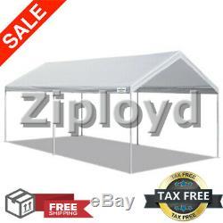 10' Portable Heavy Duty X 20' Canopy Garage Tente Auvent Abri De Voiture Cadre En Acier