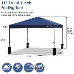 10' X 10' Portable Canopy Garage Tente Carport Car Shelter Cadre En Acier