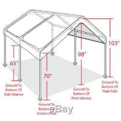 10' X 20' Canopy Heavy Duty Tente Portable Abri D'auto Garage Abri De Voiture À Armature En Acier