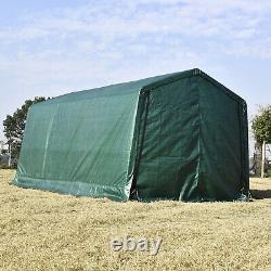 10'x15'x8' Ft Auvent Auvent Abri Tente De Stockage Shed Garage Cadre En Acier