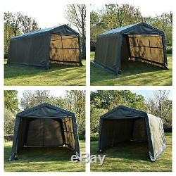 10'x15'x8' Ft Shed Tente Abri De Stockage Garage Cadre En Acier Auvent Auvent