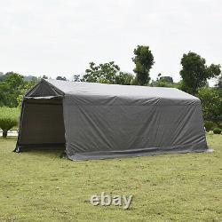 10'x20'x8' Ft Carport Canopy Car Storage Shed Garage Cadre En Acier Tente Shelter