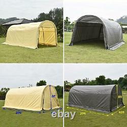 10'x20'x8' Ft Storage Shed Tente Abri Voiture Garage En Acier Cadre Carport Canopy