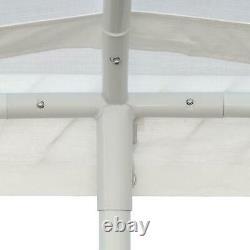 10x20 Port De Voiture Lourd Garage Abri De Voiture Cadre En Métal Couleur Portable Blanc